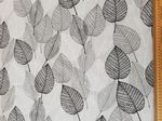 Silver Leaf Fabric UK 80% Cotton 20% Poly giving upholstered finish - Price Per Metre
